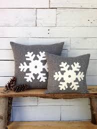 cabin decor lodge sled: christmas pillow winter decor pillow snowflake pillow rustic christmas pillow ski lodge decor  inch or  inch square pillow
