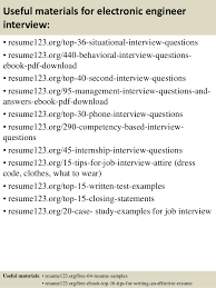 12 useful materials for electronic engineer electronic engineer resume sample