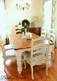 chunky dining table and chairs bentleyblonde diy farmhouse table amp dining set makeover with annie sloan chalk paintar