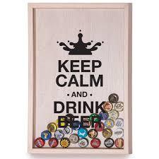 <b>Копилка для пивных</b> крышек Keep Calm And Drink Beer купить по ...
