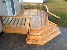 patio steps pea size x: x cedar deck with corner wrap around steps think this would be a good size