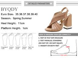 <b>BYQDY New 2020</b> Trendy Rivet Women Sandals Thick Heel Buckle ...