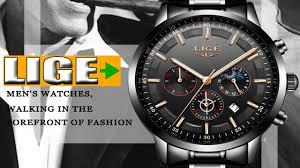 Watch Men <b>LIGE Fashion</b> Sport Quartz Clock Mens Watches 2018 ...