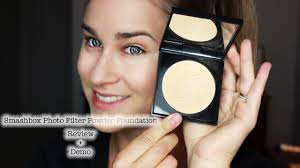NEW!<b>Smashbox Photo Filter</b> Powder Foundation Review + Demo ...