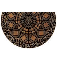 <b>коврик д</b>/<b>порога</b> Готический Узор 58,5х89см полукруг. полиэстр ...