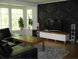 For Decorate A Living Room Modern And Black Sweet Living Room Interior Design With Tv