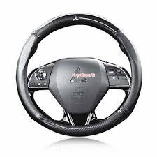 <b>38CM Carbon fiber</b> Car Steering Wheel Cover Leather Anti-slip Fit ...
