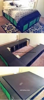 expedit queen platform bed 14 diy platform beds anew office ikea storage