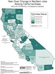 california nonfarm jobs up by  california responsible for large share of reported u s job growth in we focus a lot on 12 month trends in employment since month by month employment