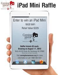 raffle cominghomerescue ipad raffle flyer most recent