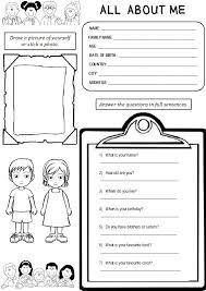 Enjoy Teaching English: ALL ABOUT ME (worksheet)ALL ABOUT ME (worksheet)