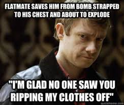 Defensively Heterosexual John Watson | Know Your Meme via Relatably.com