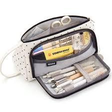 EASTHILL <b>Big Capacity</b> Pencil Case Canvas <b>High Large</b> Storage ...