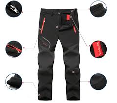 <b>2019 New Hiking</b> pants man <b>waterproof</b> softshell winter Outdoor ...