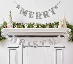 <b>Merry Christmas</b> Glitter Christmas <b>Garland</b> | Pottery Barn Kids