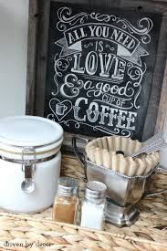 simple diy coffee station with chalkboard print unique diy coffee station