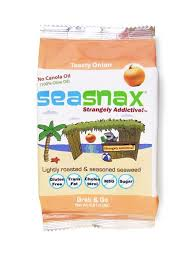 SeaSnax Organic <b>Toasty Onion</b> Grab & Go (6-Pack) | <b>Roasted</b> ...