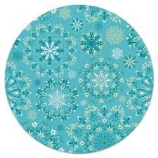 """Коврик для мышки (круглый) """"<b>снежинки</b>"""" #2853038 от ZoZo - <b>Printio</b>"""