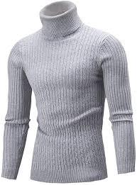 haoricu Men's <b>Sweater Autumn</b> Winter <b>Turtleneck Long</b> Sleeve ...