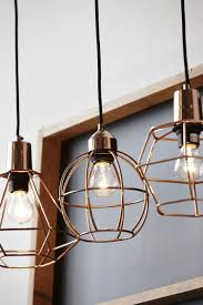 hanging copper cage lights cage pendant lighting