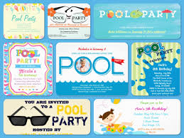 comfy pool party debut invitation features party dress great pool spectacular pool party invitations printable