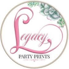 Legacy Party Prints | Birthday, Bridal, & <b>Baby Shower</b> Favors ...