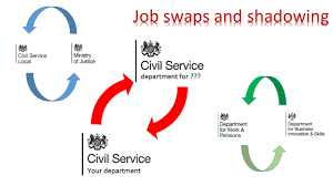 spend the day working another department civil service local job shadowing is a great way for people to develop their skills it gives individuals a chance to experience different ways of working and to connect