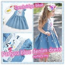 Kid <b>Baby</b> Girl Forest <b>loose Sleeveless</b> Floral Lace Denim Princess ...