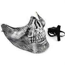 Partysanthe Sliver <b>Mask Halloween</b> Skull Mascara Party <b>Scary</b> ...