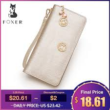 <b>FOXER Brand Women Cow</b> Leather Wallet Simple Coin Purses ...