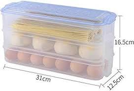 Buy Vroxy <b>Rectangle Refrigerator Storage Box</b> Three Layers ...