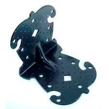 <b>Уголок крепёжный фигурный</b> УКФ 105-105-100-У, черный ...