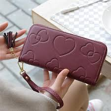 Ladies Heart Style Zippered Wallet - Me'Couture HandBags
