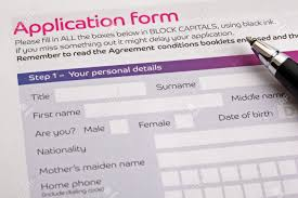 application form concept for applying for a job finance loan application form concept for applying for a job finance loan mortgage or a