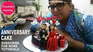 <b>Wedding Anniversary</b>:<b>Cake</b> Decorating:fondant 3d <b>toppers</b> - YouTube