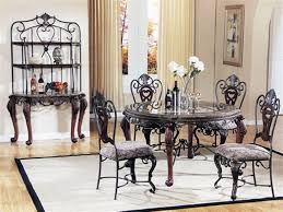 modern dining table teak classics: dining room antique grey themed dining table and chair with  grey metal chairs and