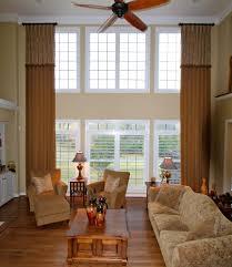 window treatment ideas for large living room window