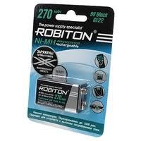 364 ₽ <b>Аккумулятор</b> Ni-Mh 270 мА·ч <b>ROBITON</b> 9V <b>Крона</b> 6F22 270