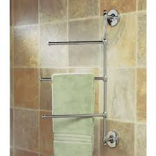 Space Saver Ideas  Wall Mounted Towel Racks For Bathrooms With Tiles Image  Pinterest