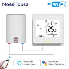 <b>WiFi Smart</b> Thermostat Temperature Controller Water/Electric/Gas ...
