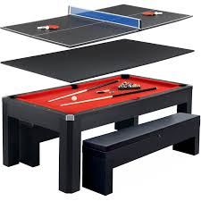 Combination Pool Table Dining Room Table Park Avenue 7 Ft Pool Table Combo Set W Benches Walmartcom