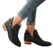 Hemlock Women <b>Autumn</b> Boots <b>Flat</b> Ankle Boots Big Size <b>Winter</b> ...