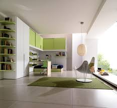 kids and teen room green affordable minimalist study room design
