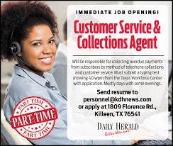 customer service collections agent collections agent