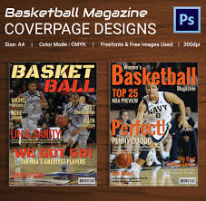 magazine cover psd psd ai vector eps format basket ball magazine cover page design