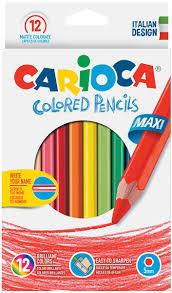 <b>Набор</b> крупных <b>цветных</b> деревянных <b>карандашей</b> CARIOCA ...