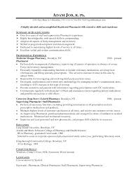pharmacist resume samples resume format 2017 pharmacist