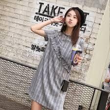 College <b>Style Child</b> Dress Female <b>Summer</b> Student Loose Wooden ...