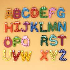26pcs/set <b>Wooden Cartoon</b> English Alphabet ABC~XYZ for <b>Kids</b> ...
