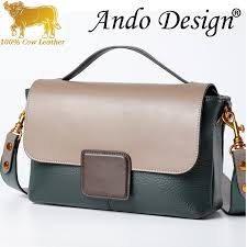 <b>Genuine Cow Leather</b> Bag Women New European American <b>Fashion</b>
